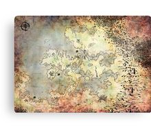 Fantasy Map Canvas Print
