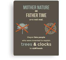 tweets by @dril - Trees & Clocks Canvas Print