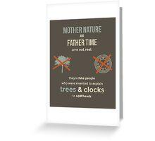 tweets by @dril - Trees & Clocks Greeting Card