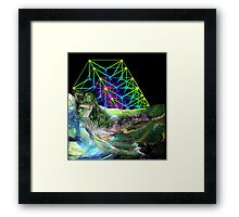 Time travel to the other lands. Framed Print