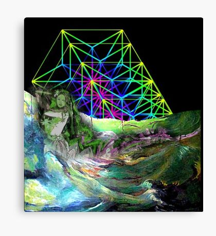 Time travel to the other lands. Canvas Print