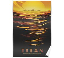Titan Moon - Saturn Travel Poster Poster