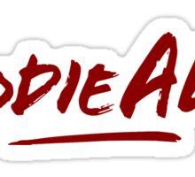 Hoodie Allen Logo (Red) Sticker