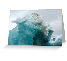 Natural ice sculpture Greeting Card