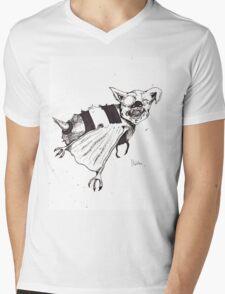 Bee Bat Mens V-Neck T-Shirt