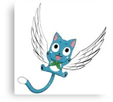 Single Happy, Fairy Tail Canvas Print