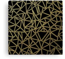 Abstract Blocks Gold Canvas Print