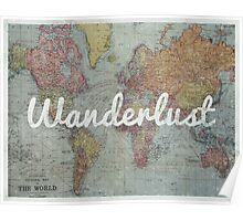 Wanderlust on Vintage World Map Poster