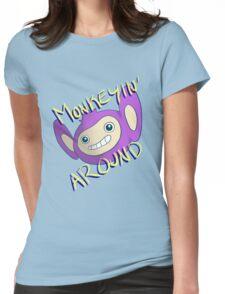 Monkeyin' Around Womens Fitted T-Shirt