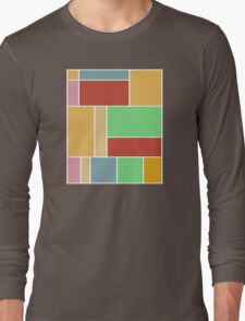 Abstract #347 1960s Palette Long Sleeve T-Shirt