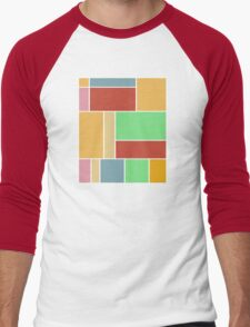 Abstract #347 1960s Palette Men's Baseball ¾ T-Shirt