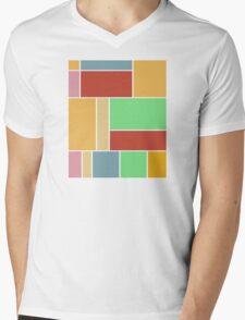 Abstract #347 1960s Palette Mens V-Neck T-Shirt