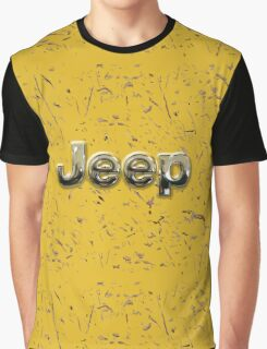 muddy yellow Jeep with chrome typograph Graphic T-Shirt