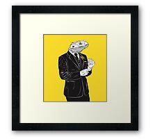 Dapper Lizard Framed Print