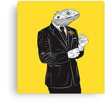 Dapper Lizard Canvas Print