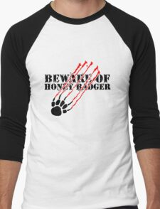 Beware of honey badger Men's Baseball ¾ T-Shirt