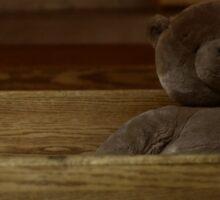 Teddy On The Bench.   Sticker