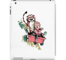 Calvin And Hobbes Fast iPad Case/Skin