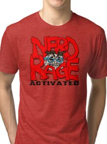 Nerd Rage Activated  Funny Men's Tshirt Tri-blend T-Shirt