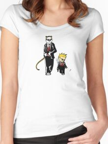 Calvin And Hobbes Partners In Crime Women's Fitted Scoop T-Shirt