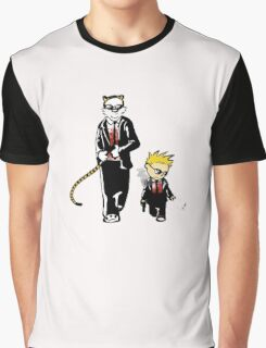 Calvin And Hobbes Partners In Crime Graphic T-Shirt