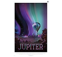 Experience the Mighty Auroras of Jupiter Photographic Print