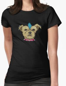Punk Rock Dog Womens Fitted T-Shirt