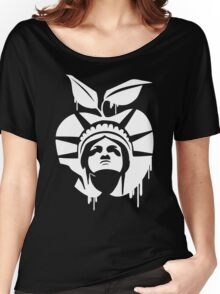 New York Statue of Liberty Funny Men's Tshirt Women's Relaxed Fit T-Shirt