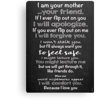 Mother is a Friend Canvas Print