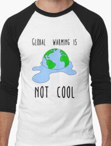 Global warming is not cool Men's Baseball ¾ T-Shirt