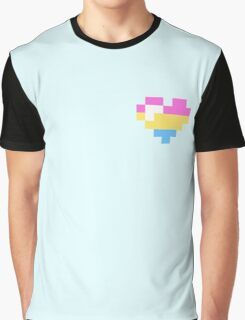 Little Pansexual heart Graphic T-Shirt