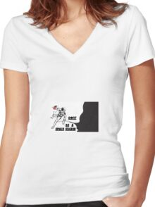 SPACE SUCKER Women's Fitted V-Neck T-Shirt