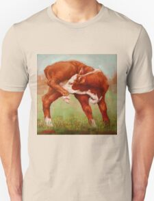 Itchy Red Calf Unisex T-Shirt