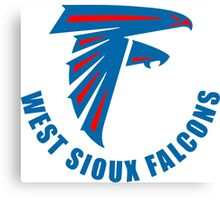 West Sioux Falcons Blue Football Canvas Print