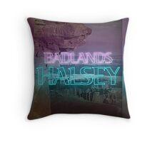 Halsey Badlands Neon Sign Throw Pillow
