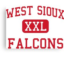 West Sioux Falcons XXL Football Canvas Print