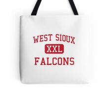 West Sioux Falcons XXL Football Tote Bag