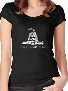 Gadsden Flag - Black and White Women's Fitted Scoop T-Shirt