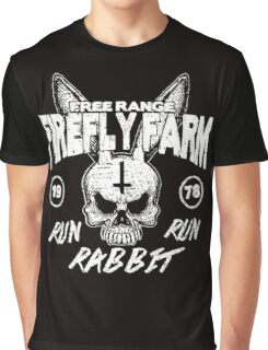 Firefly Farms run rabbit run Graphic T-Shirt