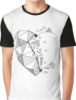 Geometrical Heart Graphic T-Shirt