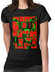 Granny's Things ART in Red Black and Green Womens Fitted T-Shirt
