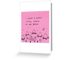 A Little World Greeting Card