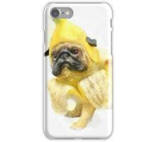 Pug Banana Watercolor iPhone Case/Skin