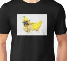 Pug Banana Watercolor Unisex T-Shirt