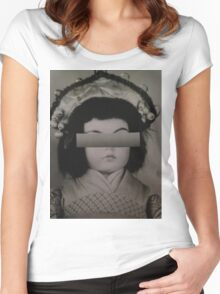 Doll Collage Women's Fitted Scoop T-Shirt