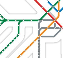Boston Train Map Sticker