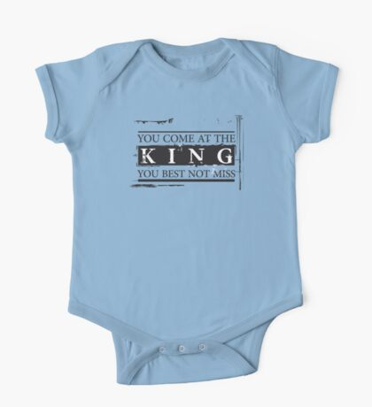 """""""You Come at the King, You Best Not Miss"""" - The Wire (Dark) One Piece - Short Sleeve"""