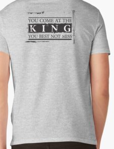 """""""You Come at the King, You Best Not Miss"""" - The Wire (Dark) Mens V-Neck T-Shirt"""