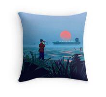 Shipspotting Throw Pillow