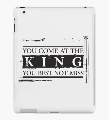 """You Come at the King, You Best Not Miss"" - The Wire (Dark) iPad Case/Skin"